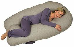 Leachco Back 'N Belly Chic Contoured Body Pillow w/ Zippered