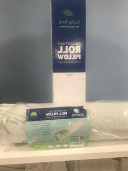 Back Pain Relief Memory Foam Semi Roll Pillow Organic Cotton