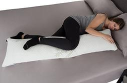 Lavish Home Bamboo Charcoal Infused Memory Foam Body Pillow