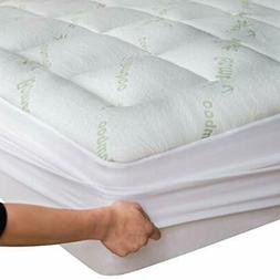 Bamboo Mattress Topper Cover Queen with 1
