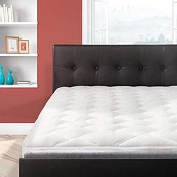 Bamboo Overfilled Pillow Top Mattress Pad   Superb Temperatu