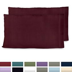 Cosy House Collection Premium Bamboo Pillowcases - King, Bur