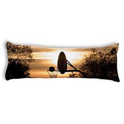 UTF4C Basketball Ring In Sunset Body Pillow Covers Decorativ