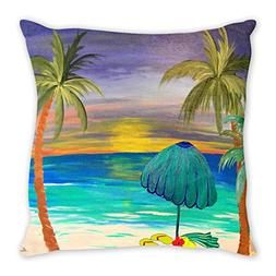 at The Beach Double Sided Art Throw or Body Pillow case from
