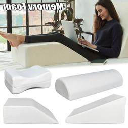 Bed Pillow Wedge/ Leg Pillow Memory Foam Body Positioner Ele