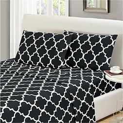 Mellanni Bed Sheet Set TwinXL-Black - HIGHEST QUALITY Brushe