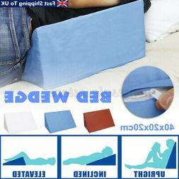 Bed Wedge Pillow Foam Elevate Support Back Leg Neck Pain Res