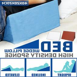 Bed Wedge Pillow Foam Elevate Support Back Neck Leg Pain Res