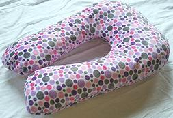 Sleep Zzz Bedtime Pillow w/ removable washable cover- Polka