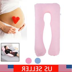 Belly Contoured U Shape Body Pregnancy Pillow Maternity Cush