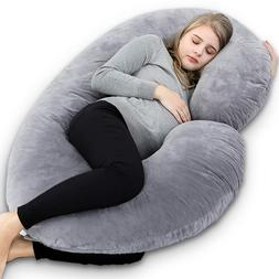 Best Pregnancy Pillow Body C Shaped Velour Cover Pregnant Wo