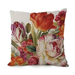 Bestseason 18 X 18 Inches / 45 By 45 Cm Flower Art Pillow Ca