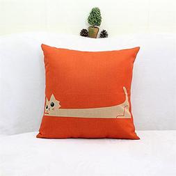 BETTERLIFE Home Cute Cotton Linen Pillow Case Throw Cushion