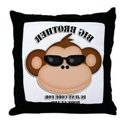 CafePress Big Brother Body Guard Monkey Decor Throw Pillow