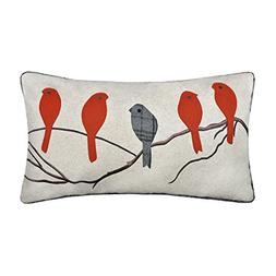JWH Birds Accent Pillow Cases Applique Hand Emobroidery Cush