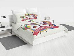 36th Birthday Decorations 3D Lion Bedding Set Thirty Six Yea