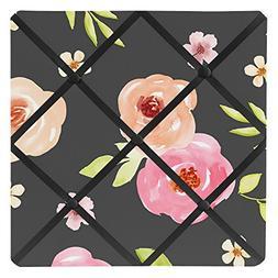 Black and Blush Pink Fabric Memory Memo Photo Bulletin Board