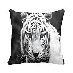 Julyou Blue Eyes White Tiger Full Accent Pillow Covers Sofa