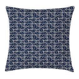 vQ87o0t Blue and White Throw Pillow Cushion Cover, Crescent
