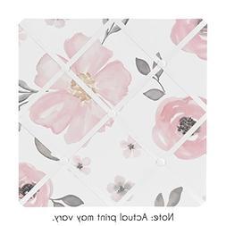 Sweet Jojo Designs Blush Pink, Grey and White Fabric Memory
