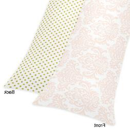 Sweet Jojo Designs Blush Pink White Damask and Gold Polka Do