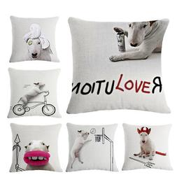 Body Building Dog Throw Pillow Cases Home Decorative Cushion