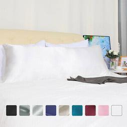 Body Pillow Case Soft Silky Satin Long Bedding Body Pillow C