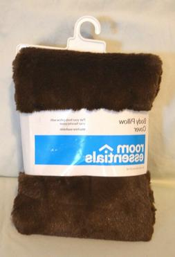 body pillow cover brown faux fur
