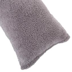 body pillow cover sherpa with side zipper
