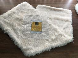 Body Pillow Cover w/ Zipper Off White, Long Hair Faux Fur So