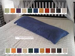 """New Bonded or Classic Micro Suede Body Pillow Case 20x54"""" Na"""