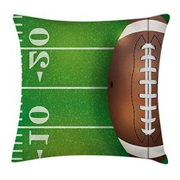 Boy's Room Throw Pillow Cushion Cover, American Football Fie