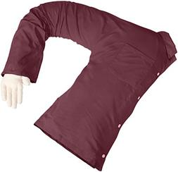 Boyfriend Body Pillow Maroon – Husband Pillow For Women An
