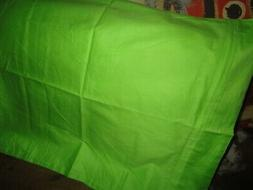 MOONREST BRIGHT GREEN  ZIPPERED BODY PILLOW COVER 100% COTTO