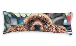 Diuangfoong Brown Dog Home Decorative Pillow Cover Cotton Lo