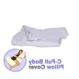 Deluxe Comfort Body Pillow Replacement Cover - Soft Stain-Re