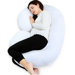 c shape contoured body pregnancy maternity pillow