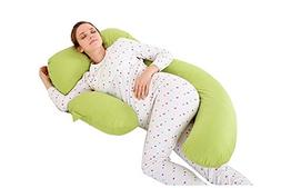 Meiz C Shaped Maternity / Pregnancy Body Pillow with Zippere