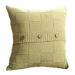 Goldy&Wendy Cable Knit Cotton Throw Pillow Case Cushion Cove
