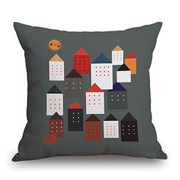 Elliot_yew Cartoon Houselet Decorative Pillow Case Cover Cus