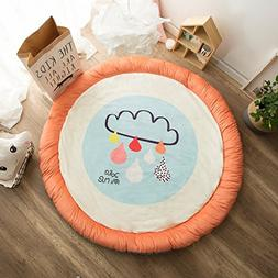 HugeHug Cartoon Soft Fenced Kids Play Mat Floor Area Rugs fo