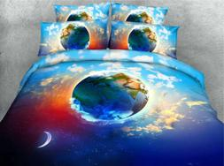 Celestial Body 3D Printing Duvet Quilt Doona Covers Pillow C