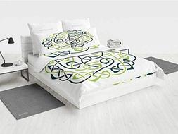 Celtic Bedding Set Digital Large Celtic Knots Pattern Vintag