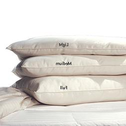 LIFEKIND Certified Organic Pillow; Size: Standard, Loft: Med