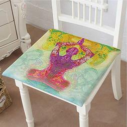 Mikihome Chair Pads Square Cotton Chair Cushion Decor Men in
