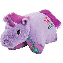 "Pillow Pets Colorful Lavender Unicorn, 18"" Stuffed Animal Pl"