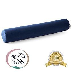 Cozy Hut Comfort Memory Foam Neck Roll Pillow Lightweight Ro