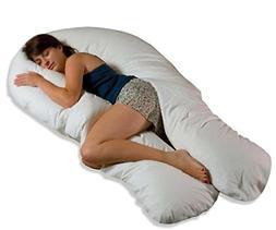 Moonlight Slumber - Comfort U Total Body Support Pillow - Wh