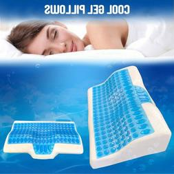 Contour Memory Foam Pillow w/ Cooling Gel - Orthopedic Bed P