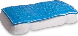 Mindful Design Cooling Gel Pillow Mat - Soft Chill Pad to Re